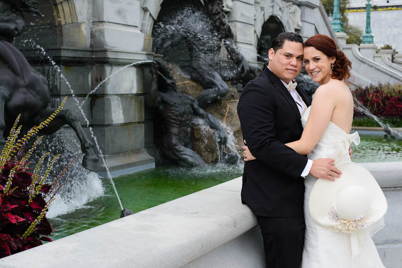 wedding portraits at the library of congress